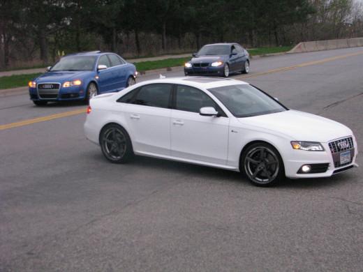 Audi and BMW sedans