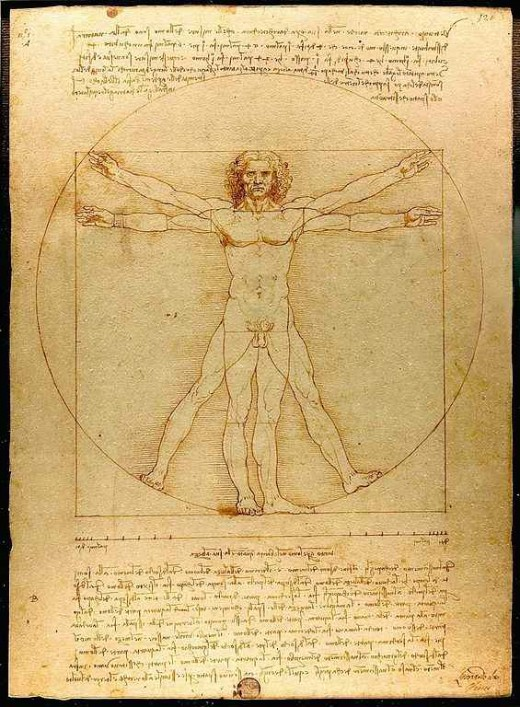 Vitruvian Man - a drawing by Leonardo da Vinci, the ultimate Renaissance Man.