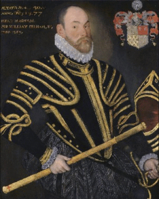 Sir William Pelham who attacked the castle 1580