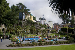 Portmeirion view of central plaza by Michael Maggs.