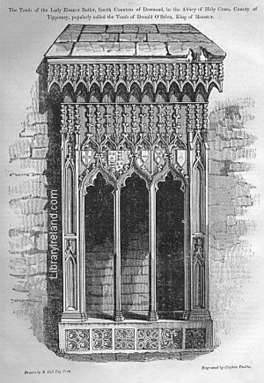 Drawing of the tomb of the Countess