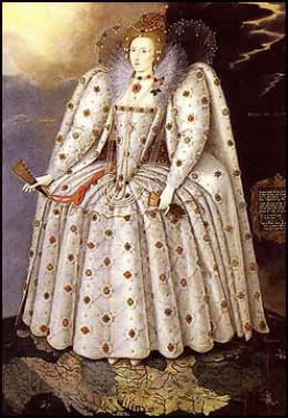 The Tudor queen Elizabeth