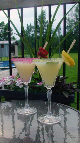 Relax on the  patio with a summer martini.