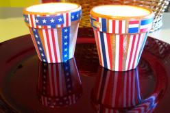 Patriotic Decor Terracotta Pots