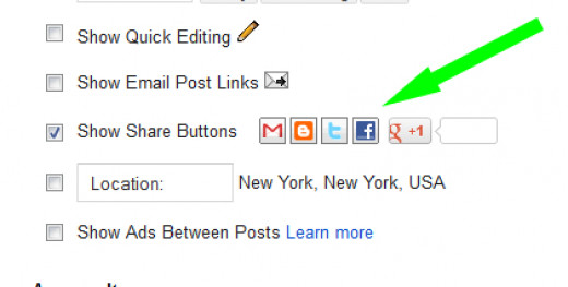 Go to Layout and click 'edit' in the 'Blog Posts' section and a window will appear. Click 'Show Share Buttons' and save.