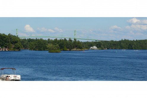 Canadian part of the Thousand Islands Bridge, as seen from Ivy Lea, Canada