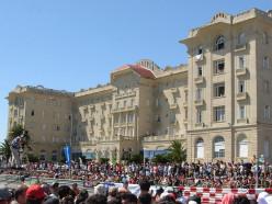 Façade of the Argentino Hotel of Piriápolis during the 2008 Piriápolis Grand Prix weekend