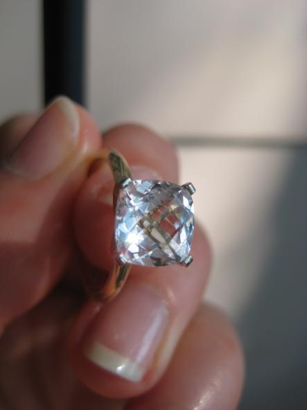 A beautiful White sapphire