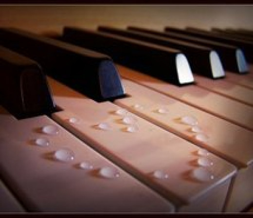 Clean piano keys with white vinegar/water.