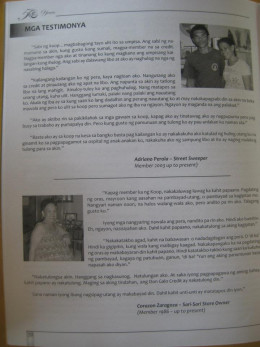 Testimonials of some members in good standing - a page from a souvenir magazine