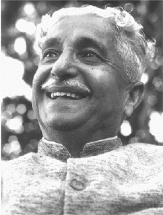 Poet Kuvempu(Dr.K.V.Puttappa) on whose thoughts the play is based