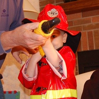 Junior firefighter at work