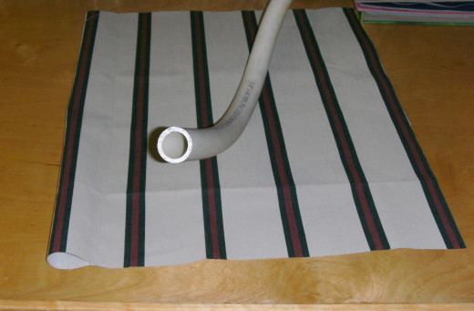The tube is sewn into one side.