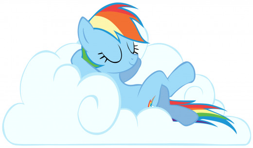 Rainbow Dash the 20% cooler, chill, awesome, laid back, rad tomboy.