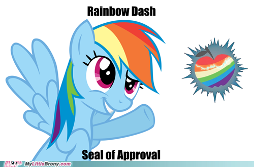 """Seal of Approval"" from many different characters online."