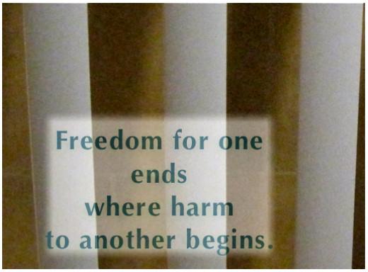Criminals forfeit their freedoms.