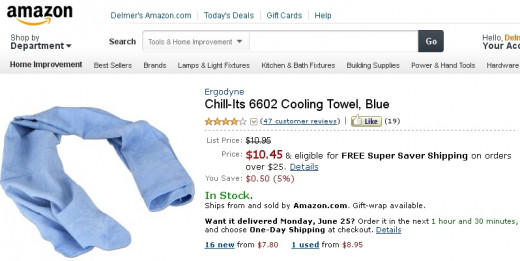 The legendary Cooling Towel, as advertised.