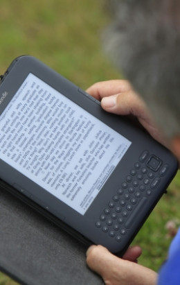 Reading on a Kindle