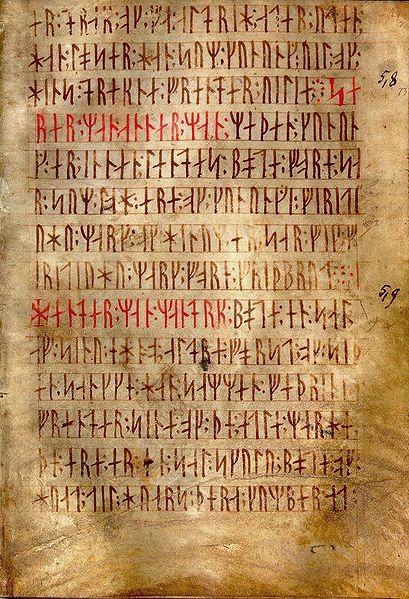 An ancient manuscript written in runic