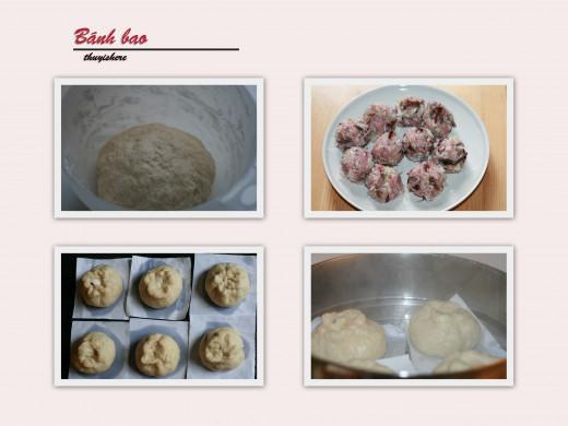 Steps to make Bánh bao
