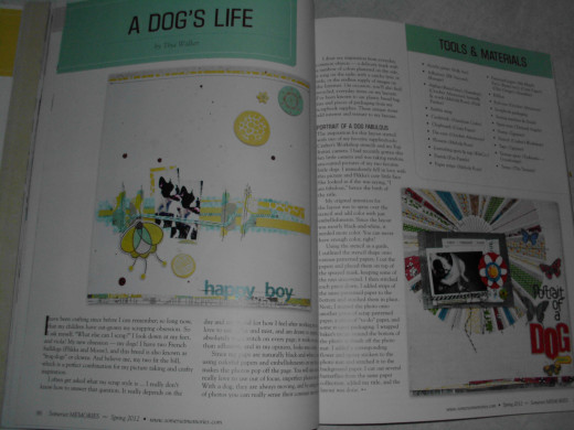 A Dog's Life section, I think you will enjoy the happy layouts, although I would use a little bigger images of pets on these pages.