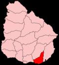 Map location of Maldonado department, Uruguay