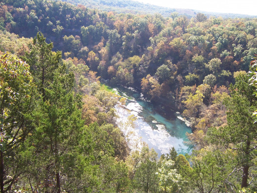 view from above, overlooking ozarks