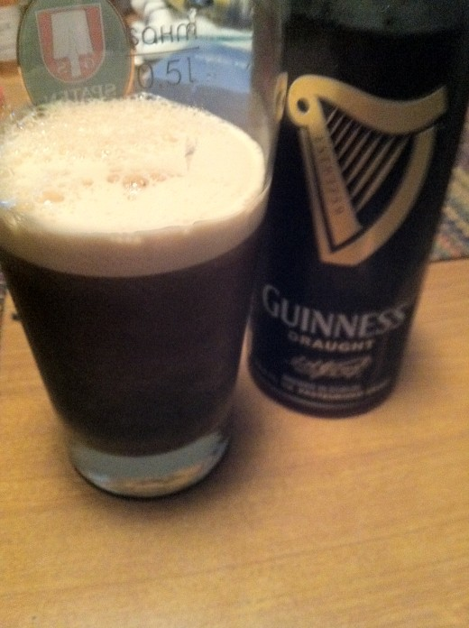 Glass of Guinness Draught.
