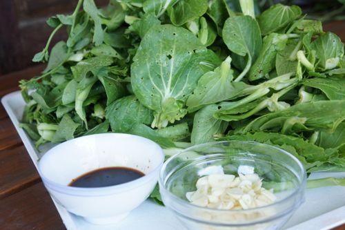 stir fry pak choi, ingredients