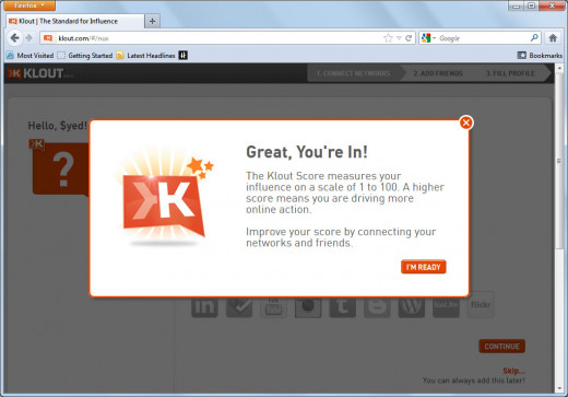 Check your klout!