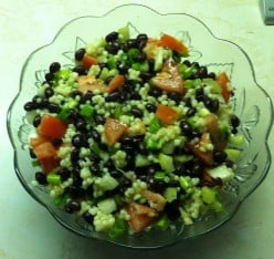 Black Bean Salad with Barley