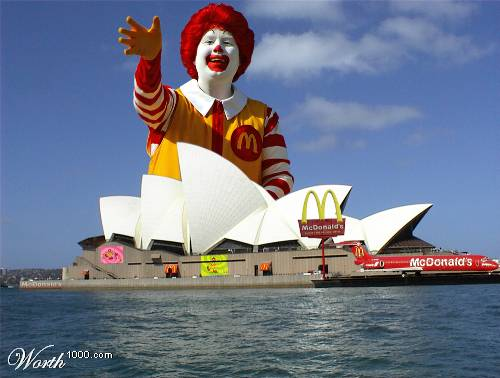 One artist's rendition of a world taken over by Ronald McDonald.