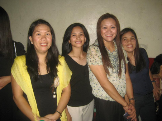Chairman Acris with Staff Nieves Paradela, Vice Chair Editha Jimenez and Staff Rose Polangcos (From L-R)