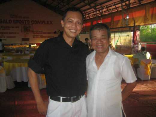 Travel Man (Ireno Alcala) with GM Domingo Butalon of DGCC
