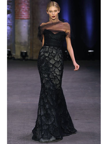 Cristian Siriano's fish scale gown is an elegant twist an animal inspired couture.