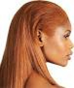 Weave Hairstyle -Her natural hair is dyed to match the weave.