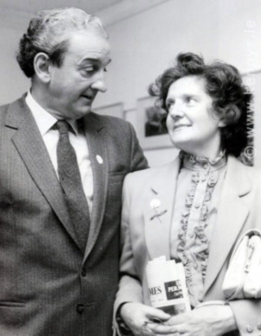 John B Keane with his wife Mary