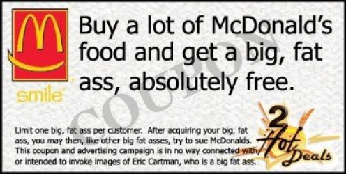 They said eating at McDonald's made them fat. No s**!