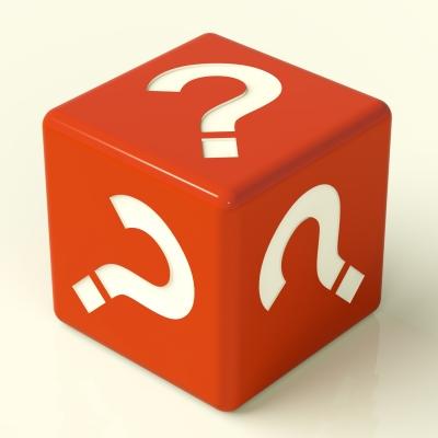 """Question Mark Dice"" by Stuart Miles"