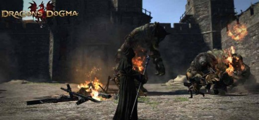 Dragon's Dogma Deny Salvation Quest involves defeating lots of large creatures including the cyclops within the Greatwall fortress