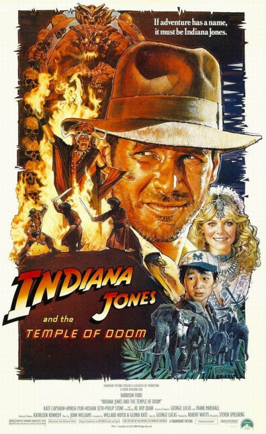 Indiana Jones and the Temple of Doom (1984) art by Drew Struzan