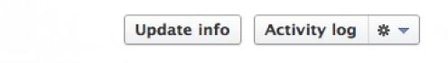 Facebook Update Info Button