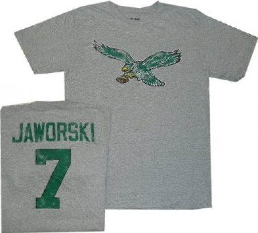 Jaws Jaworski wore # 7 for the Philadelphia Eagles