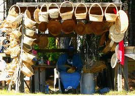 Depending upon where you are in Georgia, stands selling handmade Sweetgrass baskets may be found along the roadside.