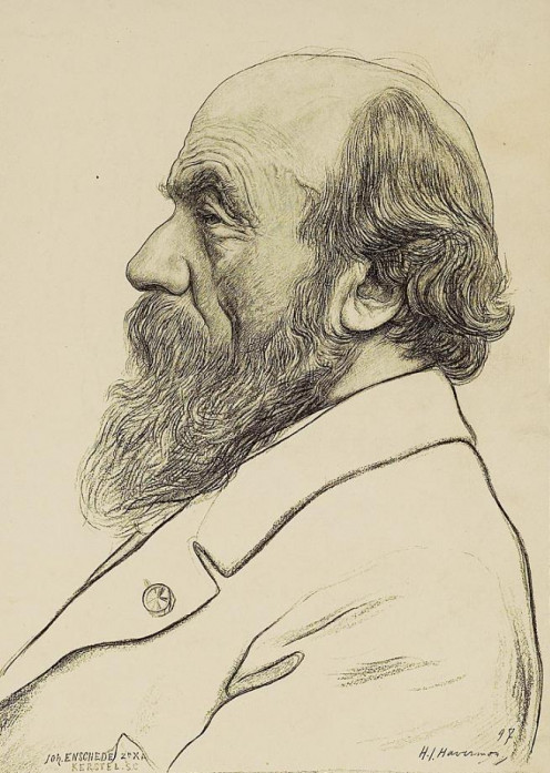 Dutch architect P.J.H. Cuypers (1827-1921), by H J Haverman in 1897