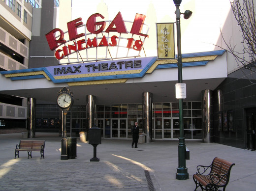 The Regal Cinemas Imax Theatre in New Rochelle, New York