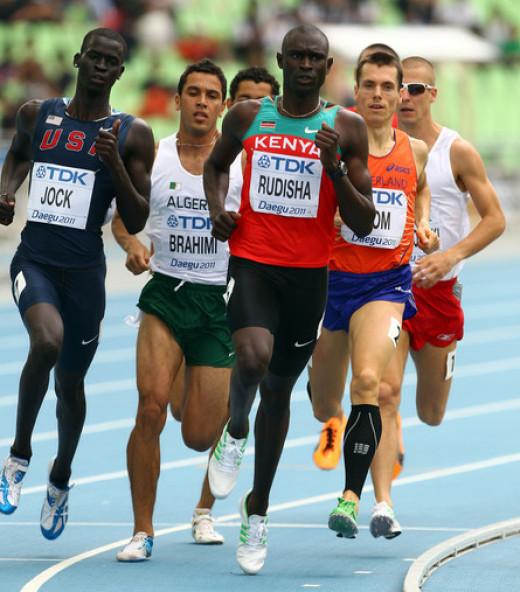 David Rudisha World record holder in 800m.