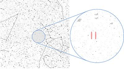 This is a map showing where the Wow! Signal is believed to have originated in the universe.