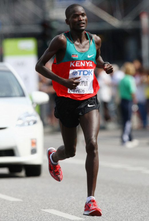 Abel Kirui of Kenya in Marathon, World Athletics 2009 Berlin, Germany.