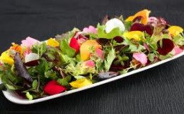 A Beautiful Meal Of Edible Flowers